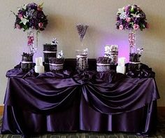 Purple Wedding Ideas For Tables | Purple and Black Wedding Theme - BRONZE BUDGET BRIDE - A network of ...