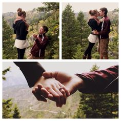 A simple hiking proposal. That's what I would want. Something intimate & simple with a beautiful scenery