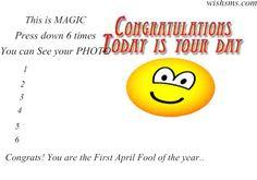 393 Funny April Fools Jokes, Best April Fools Pranks, April Fools Day, Happy Birthday April, Happy Birthday Funny, Happy Birthday Wishes, Birthday Greetings, Sms Jokes, Jokes Quotes