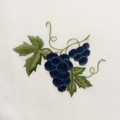 Grapes Blue<br>Hand Towel - Ivory Cotton<br>27 In Stock