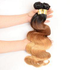 T1b 4 27  Three tone hair weft From #fashionhairqd#