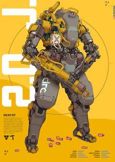 ArtStation - builder bot, Brian Sum