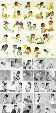 Norman Rockwell used  photos to paint his famous pictures                                                                                                                                                     More