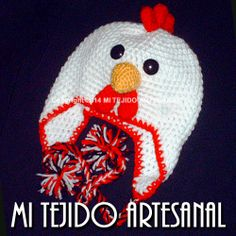 ATRACTIVA GALLINITA  CON DELICADOS DETALLES. Infinidad de creaciones  tejidas al crochet, para damas, bebés, niños, adolescentes y hombres. Realizo diseños personalizados por encargo.