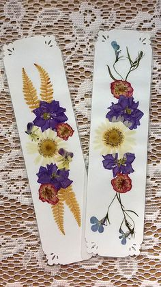 PRESSED FLOWER BOOKMARKS   Real Natural Maine by MyHumbleJumble