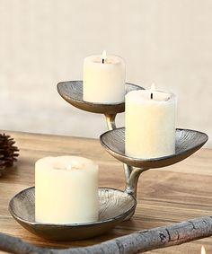 Another great find on #zulily! Petal Pillar Candleholder by SPI Home #zulilyfinds