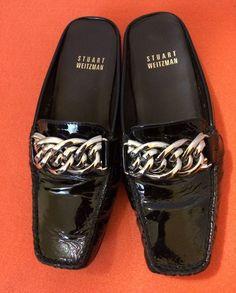 Stuart Weitzman Black Patent Leather Slip On Loafers Flats Shoes Women's Stuart Weitzman, Loafer Flats, Loafers, Miu Miu Ballet Flats, Selling On Ebay, Leather Slip Ons, Black Patent Leather, Pairs, Shoes