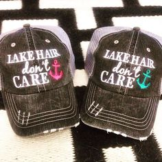 Grab this popular Lake Hair Don't Care women's trucker hat by Katydid for only $17.95 + FREE shipping while they last!  http://www.spreesy.com/katydidusa/23  #gifts