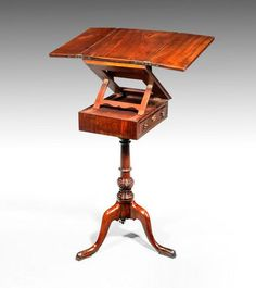 George III Period Mahogany Reading and Writing Table.