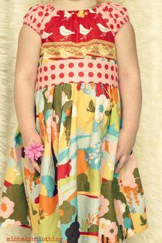 Girls dress toddler dress baby dress Easter Dress 5t Oh deer momo fabrics