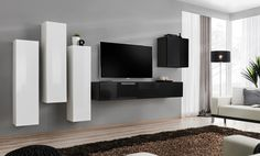 Modern wall units | wall units | living room wall units | contemporary wall units | wall units for tv | tv cabinets | oak wall unit
