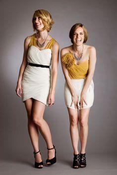 pop of yellow. yellow dresses. #yellow #dress