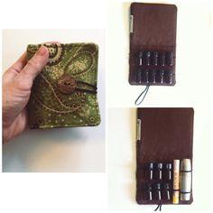 Essential oil holder/lipstick holder.