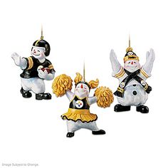 """The Pittsburgh Steelers """"Coolest Fans"""" Ornament Collection"""