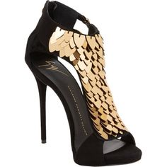 Giuseppe Zanotti Sequin-Embellished T-Strap Sandals $1,795 Spring Summer 2014 #Shoes #Heels #Zanottis