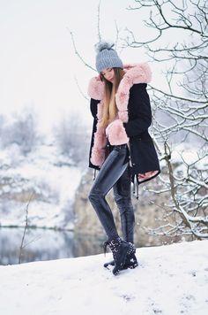 Różowy akcent w zimowe dni - PIVONIA - Blog modowy, stylizacje, inspiracje, trendy