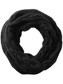 Black Infinity Chunky Sweater Knit Scarf