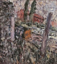 Leon Kossoff Here Comes The Diesel, Early Summer 1987 Oil on board 137 x 122 cm 54 x Leon Kossoff, Galleries In London, Landscape Paintings, Landscapes, Figure Painting, Contemporary Paintings, Art Boards, Art Gallery, Diesel