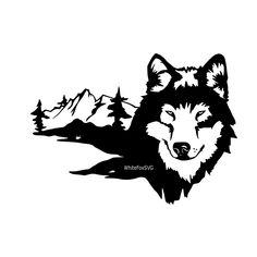Omg this is so beautiful Wolf Stencil, Animal Stencil, Stencil Art, Wolf Silhouette, Silhouette Design, Wolf Tattoos, Celtic Tattoos, Animal Tattoos, Wolf Tattoo Design