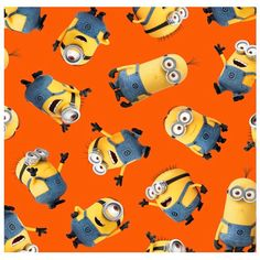 Collection: 1 In A Minion Designer: Quilting Treasures Manufacture: By Quilting Treasures Contents: 100% Cotton   Half Yard Despicable Me Minion Orange Toss  See other Minion prints here:
