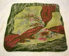 Size: 39 x 41 cm  ----------------------------------------------------  About felt  Felt - the handmade materials. Which it was made, using soap and
