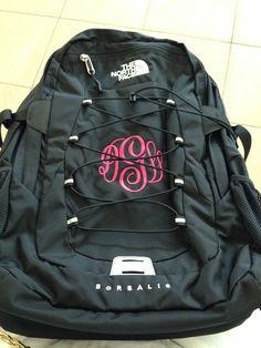Love my monogrammed north face backpack! | Backpacks | Pinterest ...
