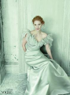 Jessica Chastain by Annie Leibovitz for Vogue US