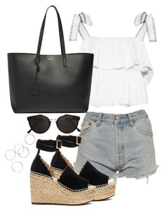 """""""Untitled #4218"""" by theeuropeancloset ❤ liked on Polyvore featuring Levi's, Saloni, Yves Saint Laurent, Chloé and RetroSuperFuture"""