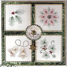 embroidery on cards - Google Search