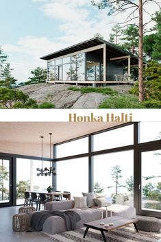 Honka log home and cabin kits are the perfect choice when you're looking for an easy and effective way to build a healthy and ecological log home. Scandinavian Architecture, Wood Architecture, Timber Frame Homes, Timber House, Nordic Home, Scandinavian Home, Rustic Wooden Bed, Flat Pack Homes, Log Home Kits