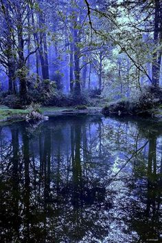 """Blue Hour"" reflection - as if painted from an artist's ""mind's eye"""
