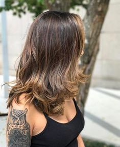 Balayage Ombre Hair Color Ideal For You – Page 10 Medium Hair Cuts, Medium Hair Styles, Curly Hair Styles, Beautiful Hair Color, Cool Hair Color, Ombre Hair, Balayage Hair, Balayage Brunette, Blonde Brunette
