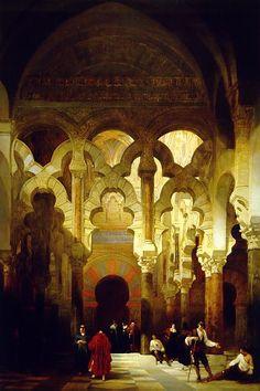 Interior de la Mezquita de Córdoba, David Roberts, 1838, Óleo