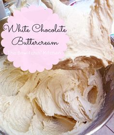 White Chocolate Buttercream Frosting recipe - Looking for frosting recipes? This makes for an amazing dessert - just try to save some for the cake and/or cupcakes | The Bewitchin' Kitchen