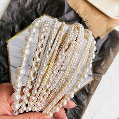 New Crystal Pearl Hair Bands Cute Headbands, Headbands For Women, Braided Headbands, Pearl Headband, Pearl Hair, Hair Accessories For Women, Bridal Hair Accessories, Head Accessories, Donia