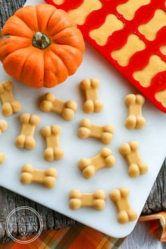 Frosty Pumpkin Dog Treats {helps eliminate fall allergies}