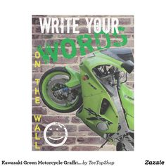 Shop Kawasaki Green Motorcycle Graffiti Wall Blanket created by TeeTopShop. Great Gifts For Guys, Green Motorcycle, Blanket On Wall, Picnic In The Park, Graffiti Wall, Edge Stitch, Outdoor Events, Cuddling, Prints