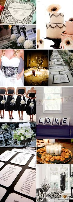 Black and white wedding.