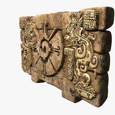 3D модель ацтекский артефакт