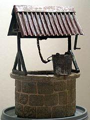 Tuto puits page4 - Frammy miniatures un superbe tuto pour faire un puit avec des récups.