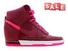 brand new db37f 76d6e Chaussure Nike Basketball Pas Cher Pour Femme Nike Wmns Dunk Sky Hi Rose