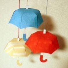 カラフル傘の ペーパーオーナメントの作り方|ペーパークラフト|紙小物・ラッピング|アトリエ