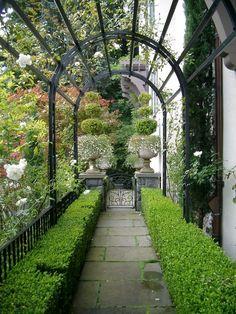 English-style hillside garden, Portland, OR. Koch Landscape Architecture.