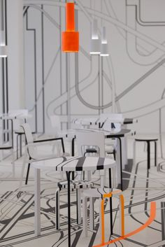 The new artistic luxury to decoration and house design, the German artist Tobias Rehberger has created, in collaboration with the iconic furniture company Artek, Street Art, Hotel Room Design, Luxury Decor, Cafe Interior, Stand Design, Shop Interiors, Commercial Interiors, Restaurant Design, Interior Design Inspiration