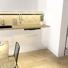 Bin-e in the kitchen #ecology, #segregation, #kitchen; #modern #home;#futurekitchen;
