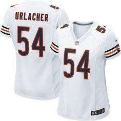 bafd15536 Women s Nike Chicago Bears Brian Urlacher Game White Jersey - NFLShop.com  Framed Jersey