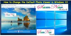 How to Change the Default Photo Viewer in Windows 10