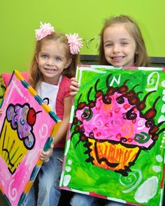 """Photo 11 of 19: Painting / Birthday """"Pink & Zebra ART Party""""   Catch My Party"""