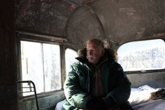 Chris McCandless' Dad. I can't imagine how eerie it is to sit on the couch your son died on.