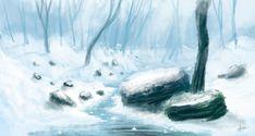 Snow river - speedpaint by Syntetyc.deviantart.com on @deviantART